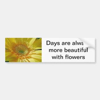 Sunshine Yellow Gerbera Daisy Bumper Sticker