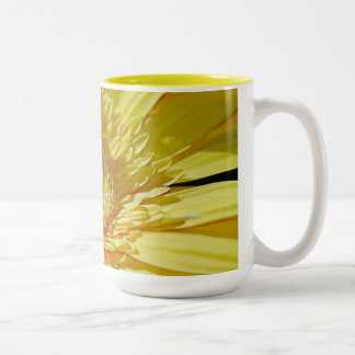 Sunshine Yellow Gerbera Daisy Two-Tone Coffee Mug