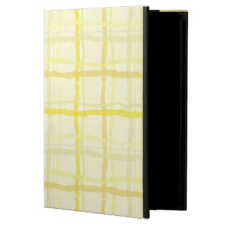 Sunshine Yellow iPad Case - Plaid