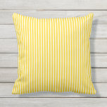 "Sunshine Yellow Outdoor Pillows - Oxford Stripe<br><div class=""desc"">Sunshine Yellow summer Oxford Stripe pillows for outdoors. Made in the USA. Vivid high quality printing. UV and mildew resistant garden or patio pillows with modern striped designs in vibrant on-trend colors. Available in 16&quot; or 20&quot; square and 13&quot; by 21&quot; rectangular sizes. Insert included. (Also available as an interior...</div>"