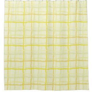 Sunshine Yellow Shower Curtain - Plaid