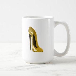 Sunshine Yellow Stiletto Shoe Mugs