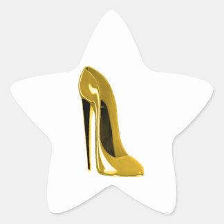 Sunshine Yellow Stiletto Shoe Star Sticker
