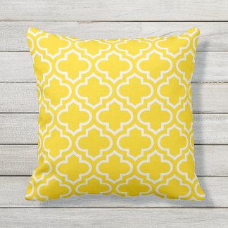 Sunshine Yellow Trellis Pattern Outdoor Pillows