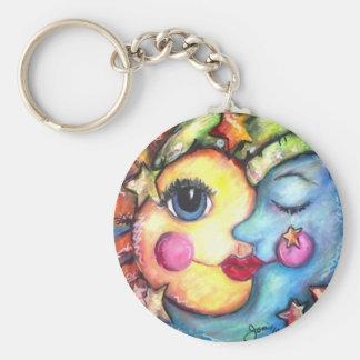 Sunshine & zzz's basic round button keychain