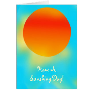 Sunshiny Day Blank Card