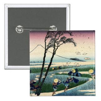 Sunshu Ejiri, 36 vistas del monte Fuji. Hokusai Pin Cuadrado