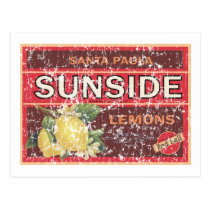 Sunside - distressed postcard