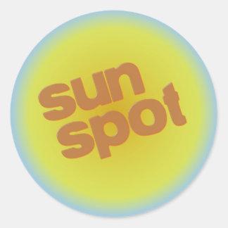 sunspot classic round sticker