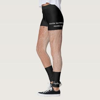 Suntanned Legs and Fake Black Shorts Leggings