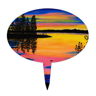 Sunup on the Lake Cake Topper