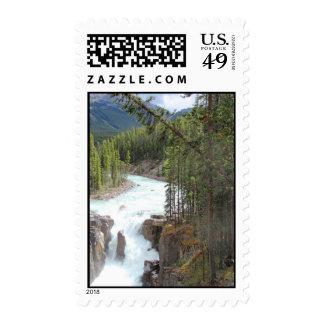 Sunwapta falls, Alberta, Canada Postage