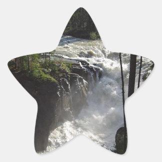 Sunwapta Falls Star Sticker