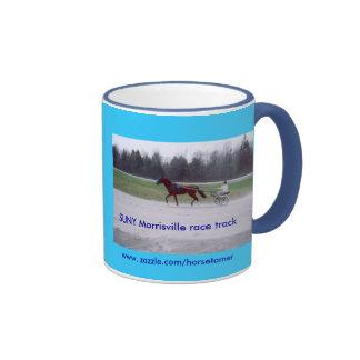 SUNY Morrisville race horse Ringer Coffee Mug