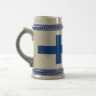 suomalainen muki - The Flag of Finland Beer Stein
