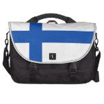 Suomen Lippu - la bandera de Finlandia Bolsas De Portatil