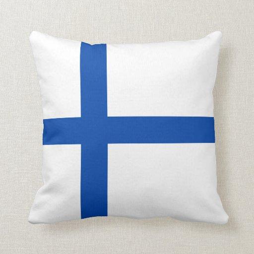 Suomen Lippu - la bandera de Finlandia Cojines