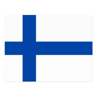 Suomen Lippu - la bandera de Finlandia Tarjeta Postal