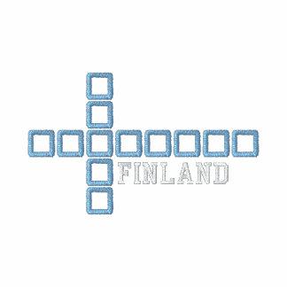 Suomen lippu pikeepaita - Finland Cross Embroidered Polo Shirt