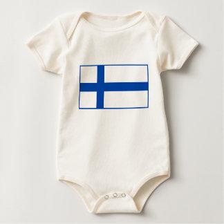 Suomen Lippu - The Flag of Finland Baby Bodysuit