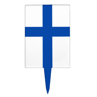 Suomen Lippu - The Flag of Finland Cake Toppers