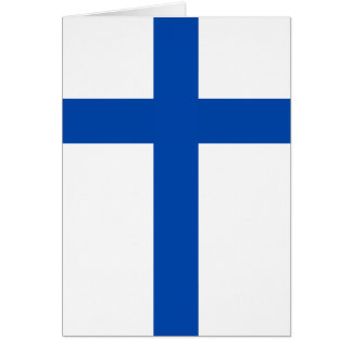 Suomen Lippu - The Flag of Finland Greeting Cards