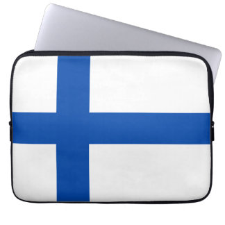 Suomen Lippu - The Flag of Finland Laptop Sleeve