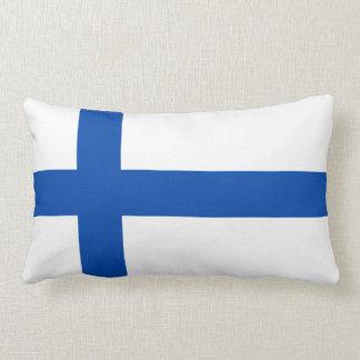Suomen Lippu - The Flag of Finland Throw Pillow