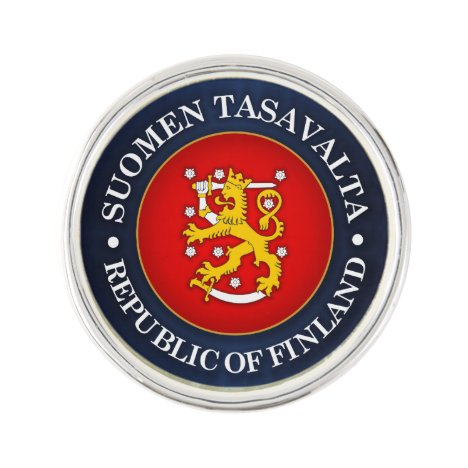 Suomen Vaakuna Lapel Pin