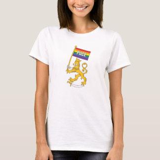 Suomenleijona + pace-rauhanlippu, t-paita T-Shirt