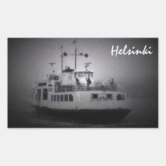 Suomenlinna (Helsinki) ferry in fog sticker