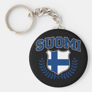 Suomi Basic Round Button Keychain