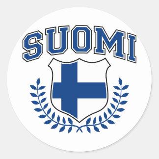 Suomi Classic Round Sticker