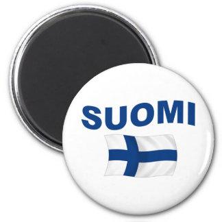Suomi (Finland) 2 Inch Round Magnet
