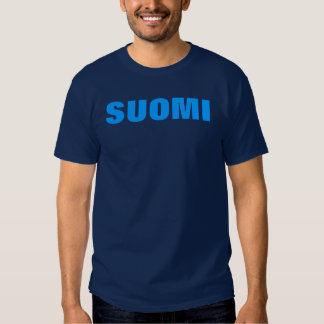 SUOMI (Finland) Blue on Blue T T Shirt