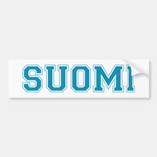 SUOMI (Finland) Bumper Sticker Car Bumper Sticker