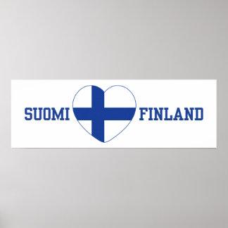 SUOMI FINLAND custom poster