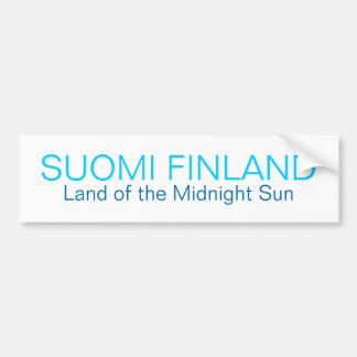 SUOMI FINLAND, Land of the Midnight Sun Bumper Sti Bumper Sticker