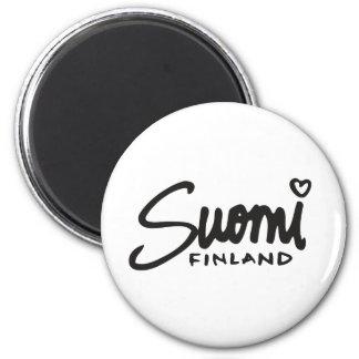 Suomi Finlandia 1 Imán Redondo 5 Cm
