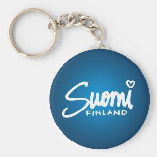 Suomi Finlandia 2 Llavero Redondo Tipo Pin