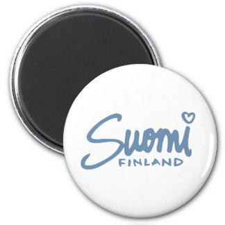 Suomi Finlandia 4 Imán Redondo 5 Cm