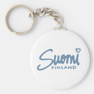 Suomi Finlandia 4 Llavero Redondo Tipo Pin