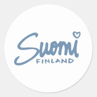 Suomi Finlandia 4 Pegatina Redonda