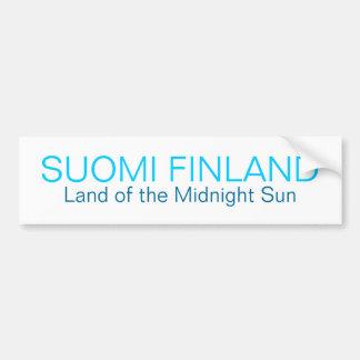 SUOMI FINLANDIA, tierra del Sti del parachoque de  Pegatina De Parachoque