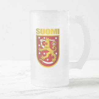 Suomi Frosted Glass Beer Mug