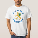 Suomileijona - sauna - suomi perkele - t-paita T-Shirt