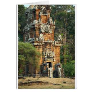 Suor Prat tower in Angkor Thom Cambodia Card