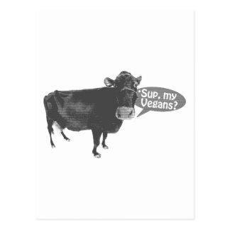 sup a mis veganos tarjeta postal