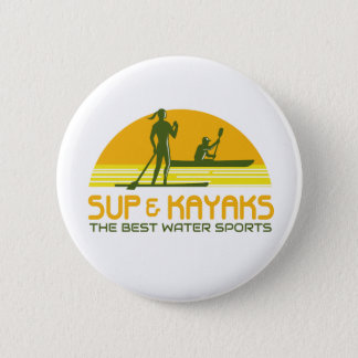 SUP and Kayak Water Sports Retro Button