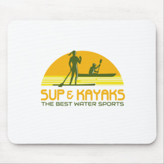 SUP and Kayak Water Sports Retro Mouse Pad